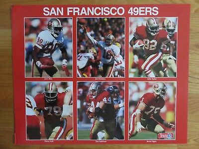 3a04ff7a6c308 Sports Illustrated SAN FRANCISCO 49ers 16x20 Mini Poster JOE MONTANA JERRY  RICE
