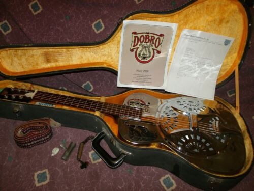 Vintage 1972 OMI Dobro model 36 The Rose resonator guitar w/case & candy EXC