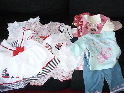 Job Lot of  Baby Girls  Clothes  3-6 months new/used