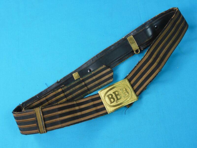 Vintage Old US Fraternal Masonic Sword Belt with Buckle