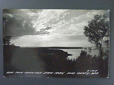 Peninsula State Park Door County Wisconsin WI Real Photo Postcard RPPC 1940s ()