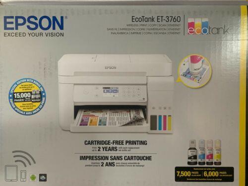 Epson EcoTank ET-3760 Wireless Printer - Brand New - Free Shipping USA