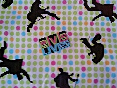 Elvis Early Days '56 Lime Green Hot Pink Dots  One Yard  NEW    OOP Hot Pink Lime Green