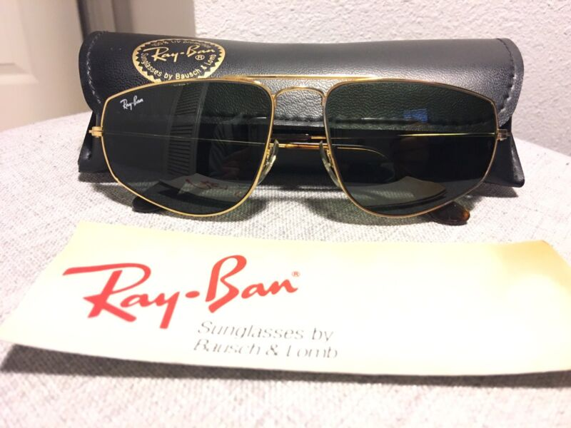 81e48ec19a Vintage Ray Ban Bausch and Lomb Gold W1083 Fashion Metal 58mm Sunglasses
