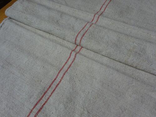 Antique European Feed Sack GRAIN SACK Red Stripe # 10411
