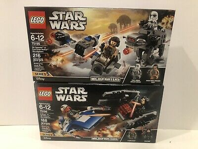 LEGO STAR WARS 75195 75196 Microfighters Set Lot of 2 NEW Series 5 Retired