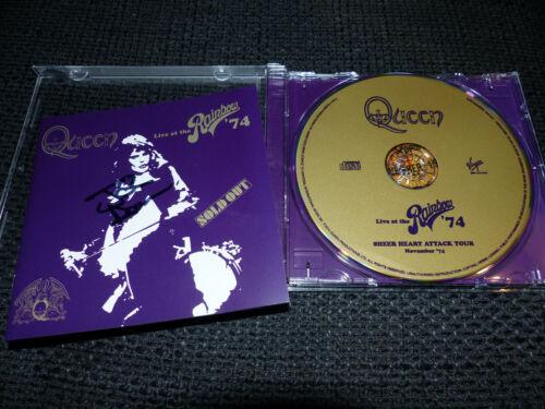 "QUEEN John Deacon signed Autogramm auf ""LIVE AT RAINBOW ´74"" CD InPerson SELTEN"