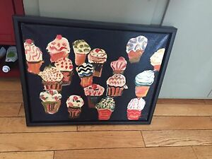 22x18 gerry collins oil cupcakes paintingj