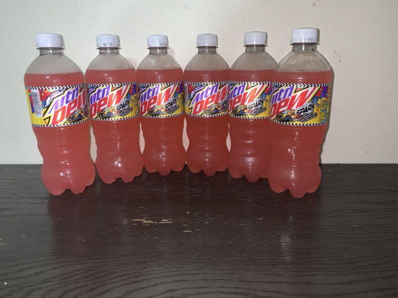 Mtn Dew Spark 20oz Bottles Speedway Exclusive. Total 6 Full Bottles