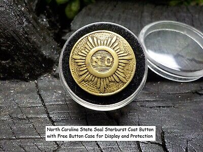 Civil War North Carolina State Seal Starburst Coat Button -