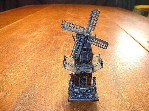 Antique Dutch .833 Silver Miniature Mechanical Windmill Figurine