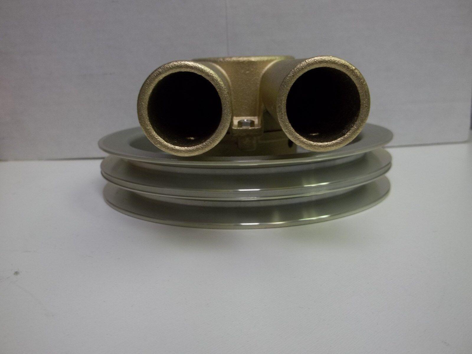 Mercruiser seawater raw water pump stainless steel wearplate repair - Volvo Penta New Raw Sea Water Pump Double V Belt Pulley 21214596 3858229 3 299 95 3 Of 3 See More