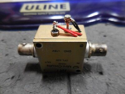 Mini-circuits Zfl-500 Sma Coaxial Low Noise Amplifier 10 To 500mhz As-is