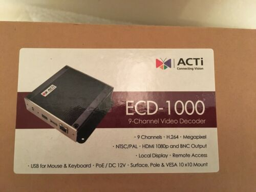 ACTi ECD-1000 9-Channel Video Decoder NEW