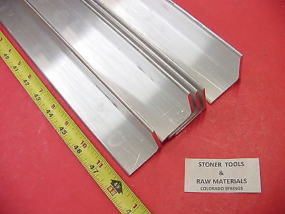 5 Pieces 1-12x 1-12x 18 Aluminum 6061 Angle Bar 48 Long T6 Mill Stock