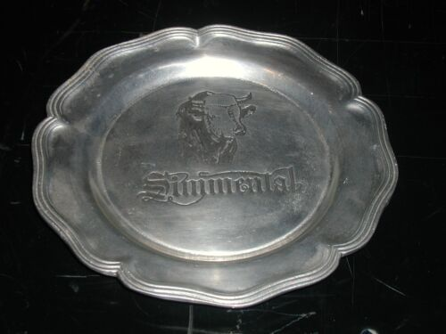 Dura Cast Pewter Simmental Bull Cattlemans Cattle Beef Breed Plate Wall Display