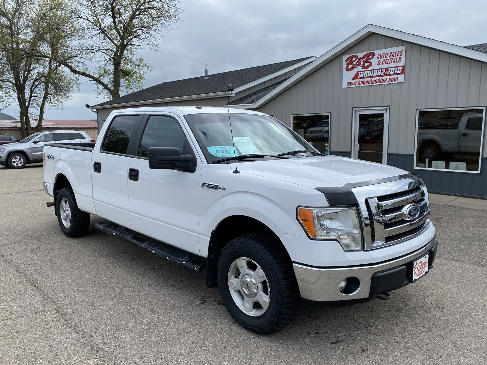 2011 Ford F-150 Crew Cab XLT 4x4 111427 Miles Oxford White Pickup V-8 cyl Automa