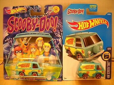 Hot Wheels Premium Pop Culture Scooby-Doo Cartoon The Mystery Machine Van Lot