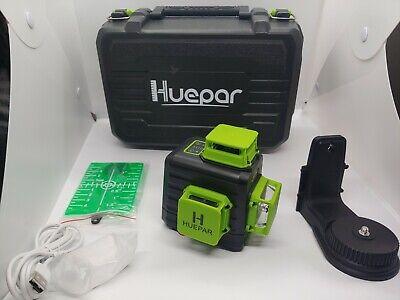 Huepar New 3d Construction Laser B03cg Kreuzlinerlaser With Li-ion Battery In...