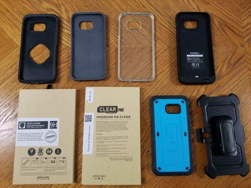 5 Samsung Galaxy s7 edge Cases and 2 NIB Screen Protectors