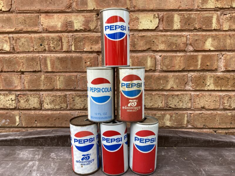 Pepsi Vintage Soda Cans
