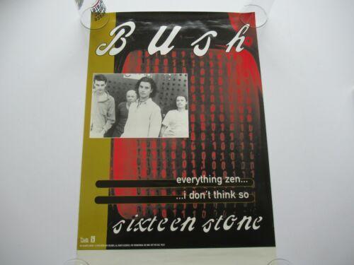 VINTAGE 1994 BUSH SIXTEEN STONE PROMO 30x20 RECORD STORE POSTER GAVIN ROSSDALE