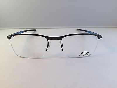 New Authentic OAKLEY Eyeglasses OX 3187 0551 CONDUCTOR 0.5 pewter/cobalt w pouch