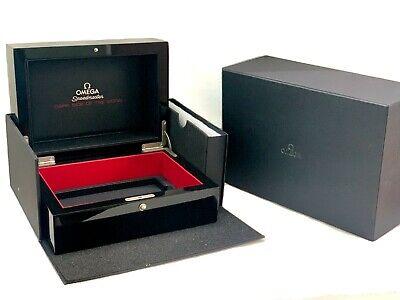 Omega Seamaster Watch Box Wood Dark Side of The Moon Luxury Presentation Storage