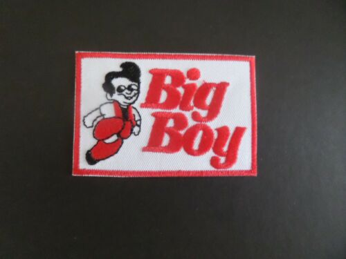 "BIG BOY RESTURANTS"" RED & WHITE  Embroidered 2 x 3 Iron On Patch"