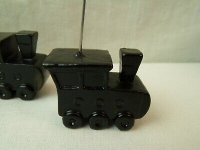 Black Train Dinner Place Card Holder Picture Name Set of 4 Wedding Party