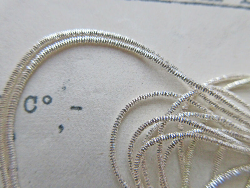 AmazinAUTHENTIC FRENCH Vintage Silver Metal Thread Check Purl Bullion Embroidery