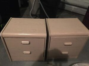 Set of 2 night side tables