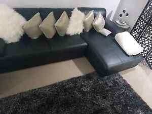 3seater black chaise lounge very good condition Liverpool Liverpool Area Preview