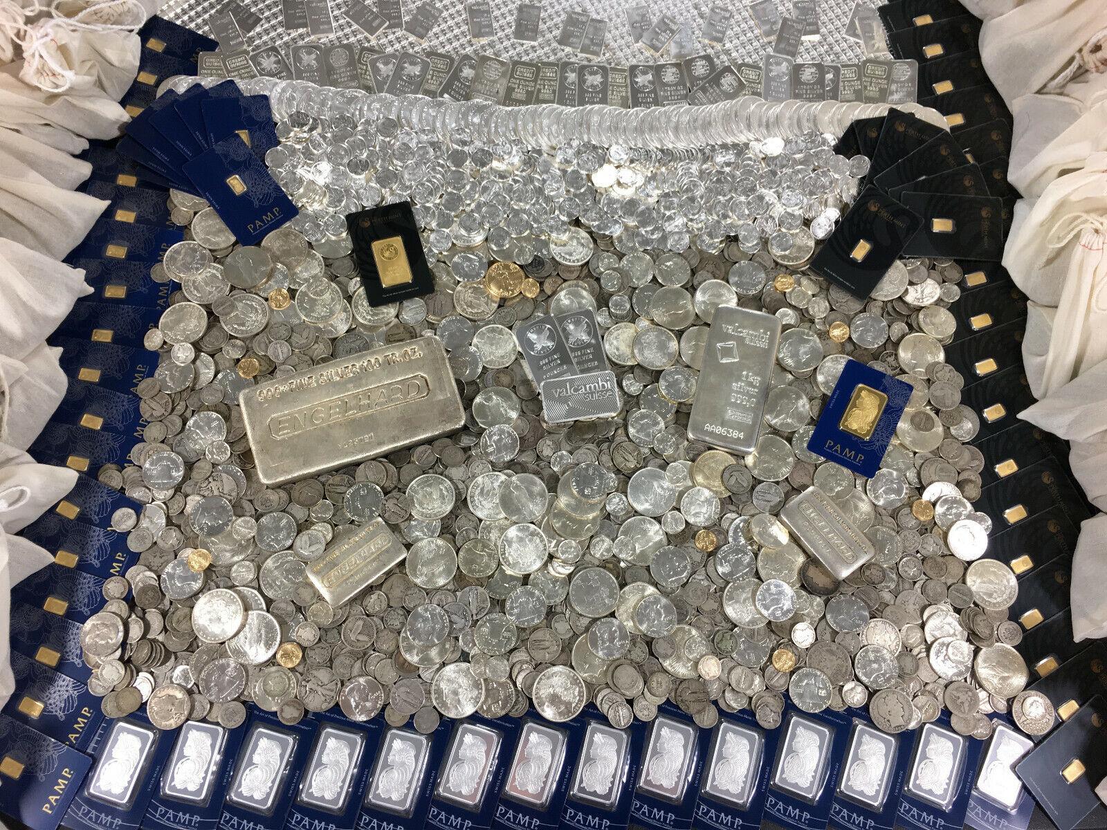 SILVER COINS OLD QUARTER UNCIRCULATED DIME BARBER MERCURY VINTAGE ESTATE SALE BU
