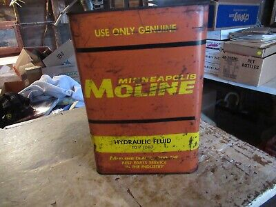 Vintage 1 Gallon Minneapolis Moline Oil can No Top Only 1 On Ebay! Lot 20-88-35