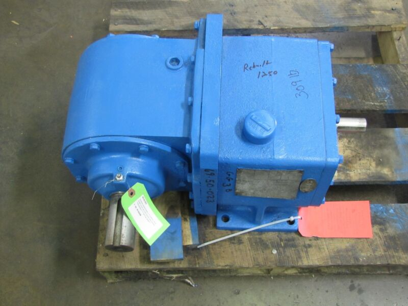 FALK 7.5 HP 1030FCB3AS 2.772:1 ENCLOSED GEARBOX WORM GEAR SPEED REDUCER REBUILT
