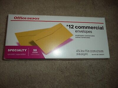 25 12 Commercial Business Envelopes 4 34 X 11 Brown Kraft 10000 Available