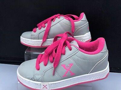 886b5e7ca5 Girls Size 12 Sidewalk Sports Wheeled Shoes Pink Grey With Double Wheels  Skates