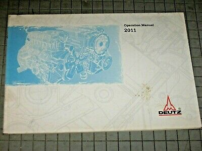 Deutz 2011 Engine Operation Manual 02979929en 5th Edition 2004 Maintenance Khd