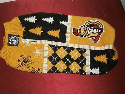 NHL Senators Ottawa Small Dog Winter Coat Logo & Colors Apparel SKUHAPW0453