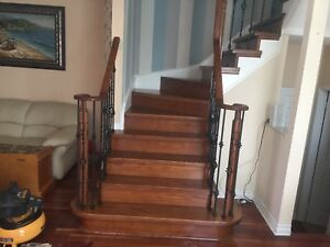 Stairs Recapped, Refinishing, Spindles and Railings