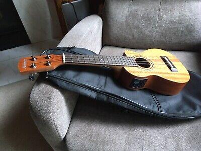used Alvarez Regent Soprano Ukulele Mahogany satin acoustic electric  w case