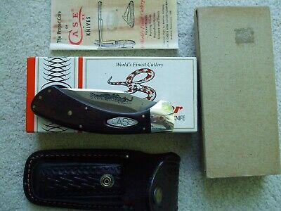 Case XX USA 1981 mint in original box Sidewinder button lock knife & sheath