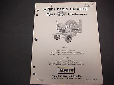 F.e. Myers Pump Co.parts Catalog1958 Pressure Rain Irrigation Pumps M4266
