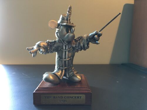 "Mickey Mouse ""The Band Concert 1935"" Pewter Figurine LIMITED EDITION"