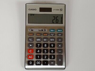 Casio® JF100BM Solar/Battery-Powered Calculator with Tax Functionality FREE SHIP