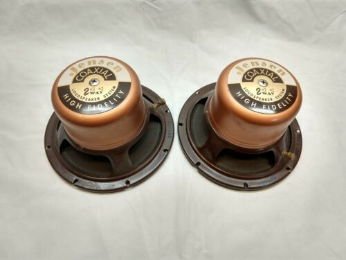 """Jensen K-80A, 8"""" Coaxial speaker pair, Vintage, Very Rare, consecutive serial #"""