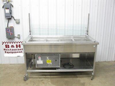 Atlas Metal 5 4 Stainless Salad Bar Buffet Table Cold Pan Refrigerator Rm-4