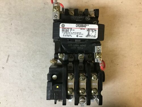 General Electric GE CR306AO** Size 00 Motor Starter With 120 Volt Coil