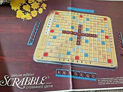 Vintage 1977 Deluxe Scrabble Turntable Edition Selchow & Righter Game Complete